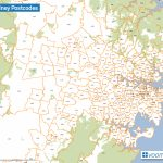 Map Of Sydney Postcodes – Voommaps With Regard To Printable Map Of Sydney Suburbs