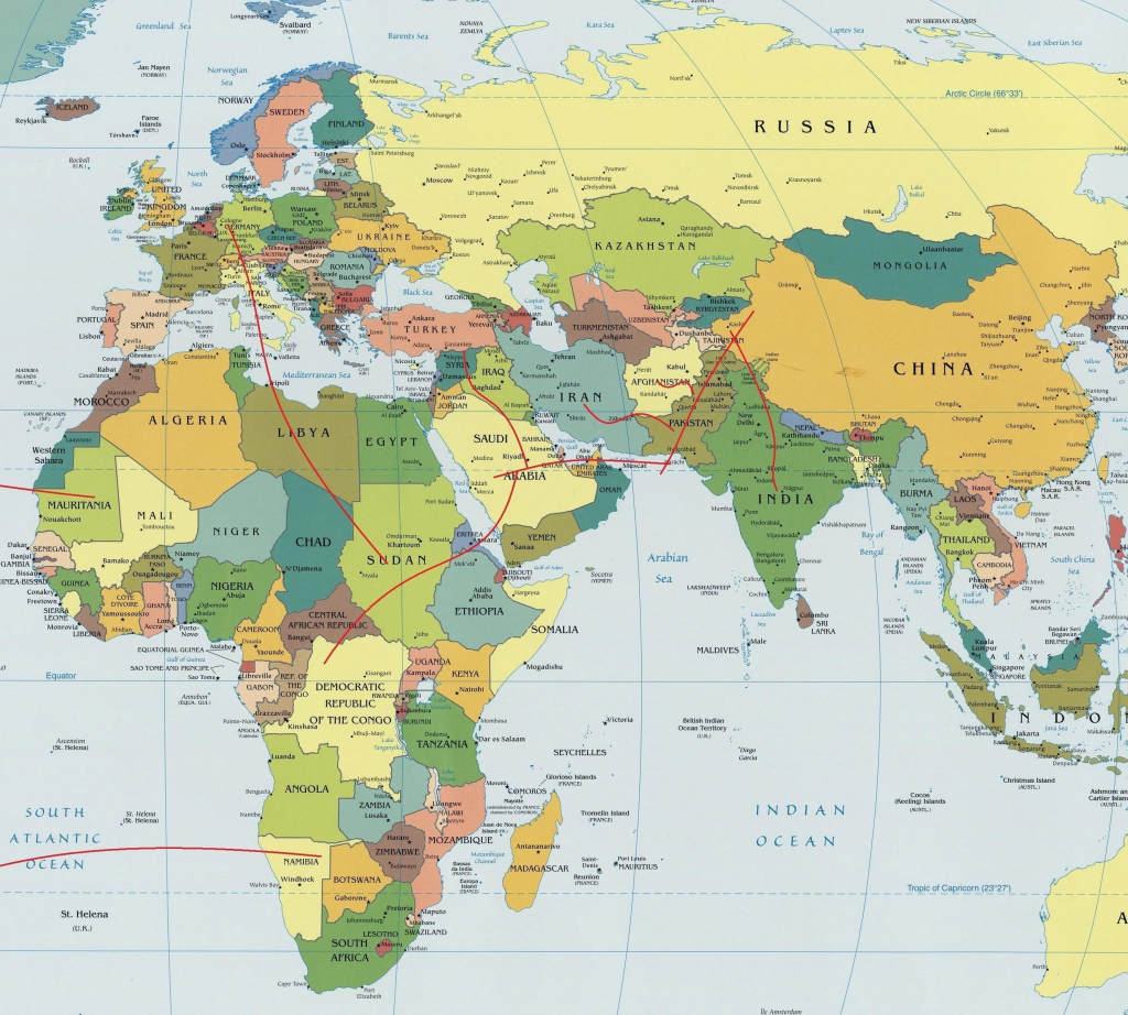 Map Of The Eastern Hemisphere   Ageorgio pertaining to Eastern Hemisphere Map Printable