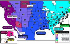 Us Map With States And Time Zones Printable