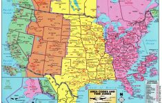 Printable Usa Map With States And Timezones