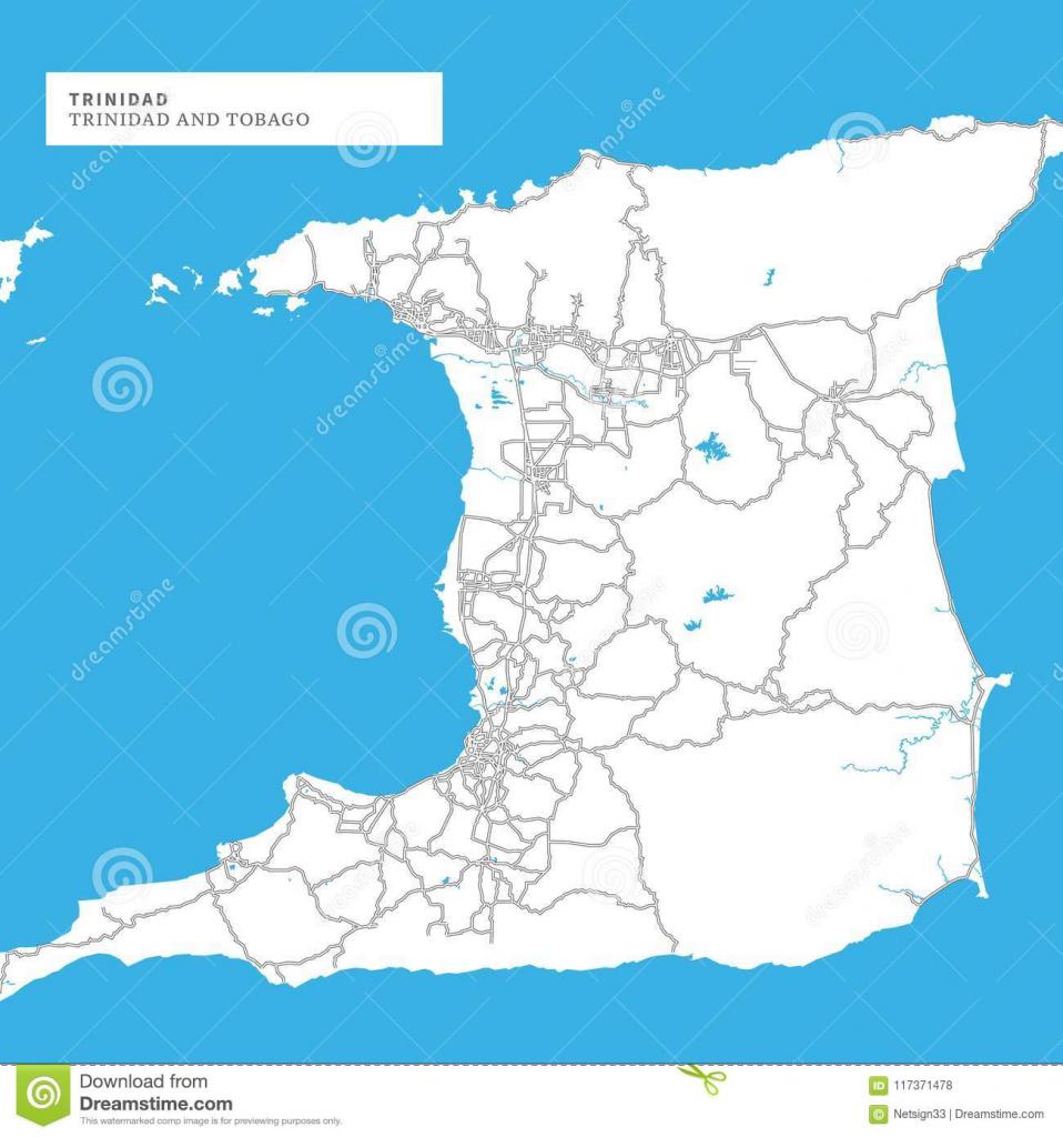 Map Of Trinidad Island Stock Vector. Illustration Of Printable within Printable Map Of Trinidad And Tobago