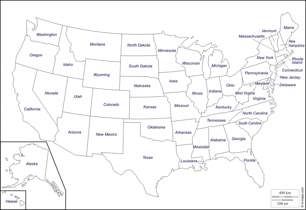 Map Of United States With State Names Printable New Blank Us 6 inside Map Of United States With State Names Printable