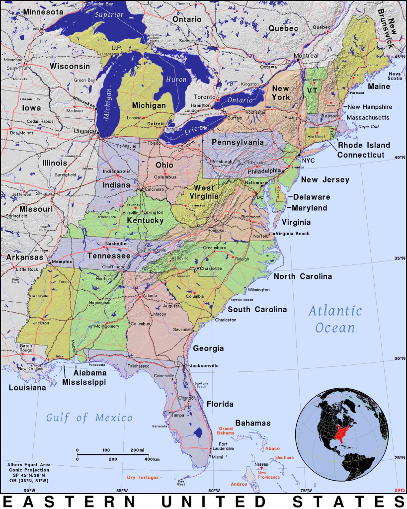 Map Of Us East Coast States Map Eastcoast Inspirational Best Us East throughout Printable Map Of East Coast