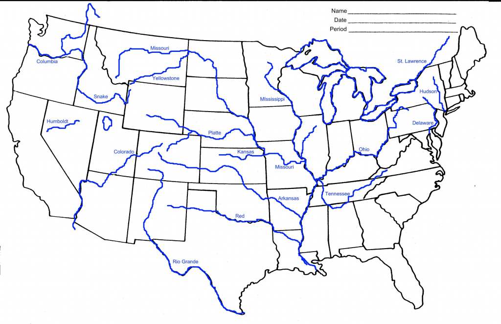 Map Of Us Rivers And States Usa Rivers Map Awesome 10 Awesome regarding Us Rivers Map Printable