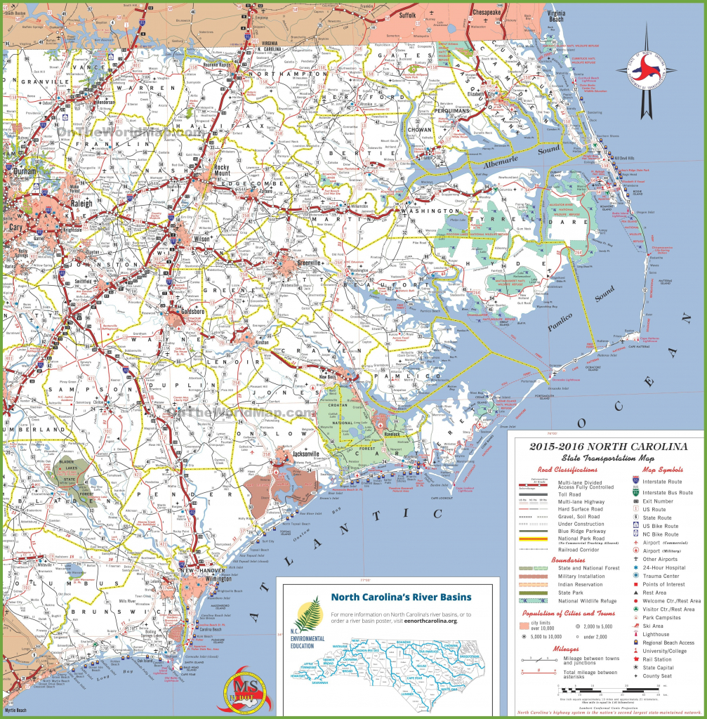Map Of Us With Nc Highlighted North Carolina Map Lovely Printable in Printable Map Of North Carolina