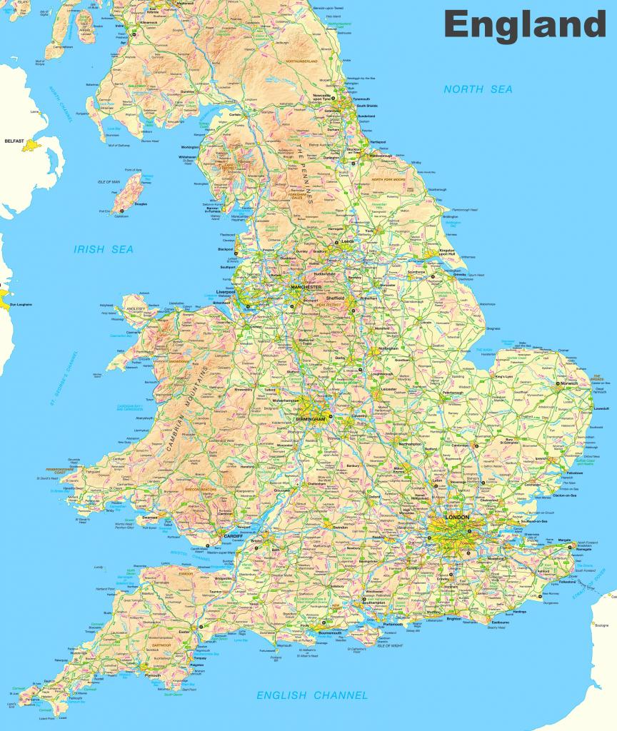 Map Of Venice Beach California Printable Maps Map Of England And intended for Printable Map Of Wales