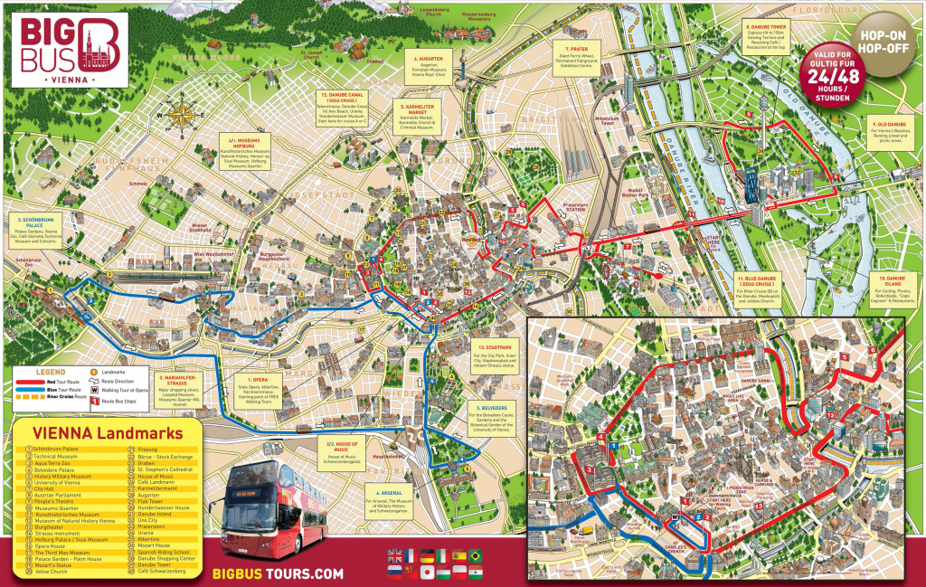 Map Of Vienna Tourist Attractions, Sightseeing & Tourist Tour with regard to Vienna Tourist Map Printable