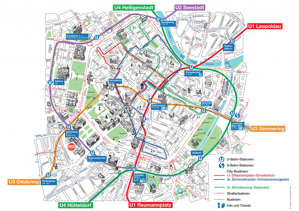 Map Of Vienna Tourist Attractions, Sightseeing & Tourist Tour within Printable Tourist Map Of Vienna