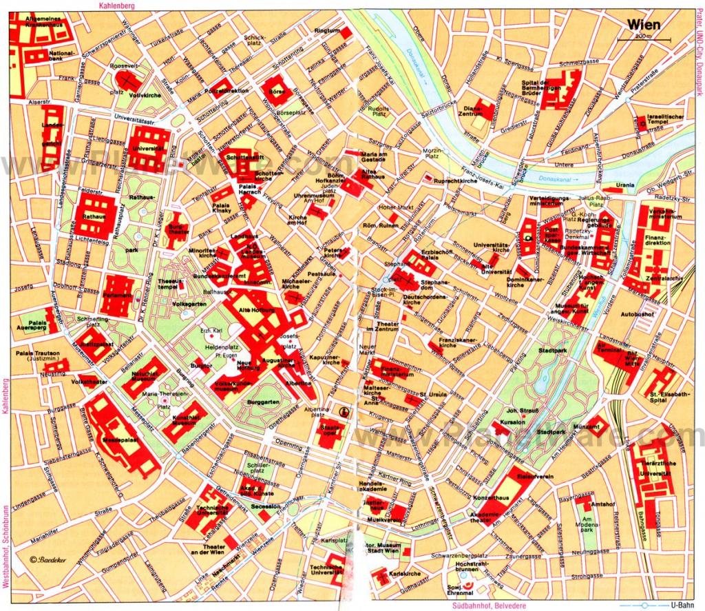 Map Of Vienna | Vacation | Walking Map, Vienna Map, Vienna for Printable Map Of Vienna