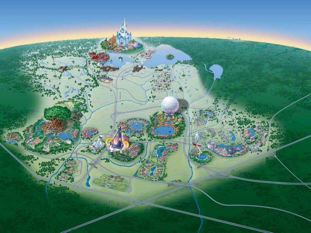 Map Of Walt Disney World Resort - Wdwinfo regarding Walt Disney World Park Maps Printable