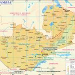 Map Of Zambia, Zambia Map In Printable Map Of Lusaka