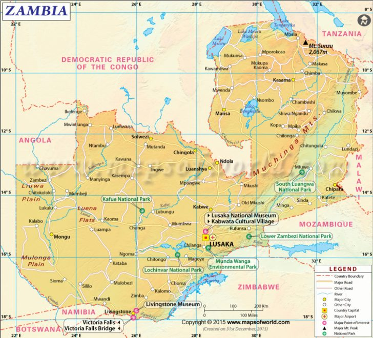 Printable Map Of Lusaka