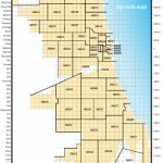 Map Showing Zip Code Areas And Major Streets Of The Chicago Street Throughout Chicago Zip Code Map Printable