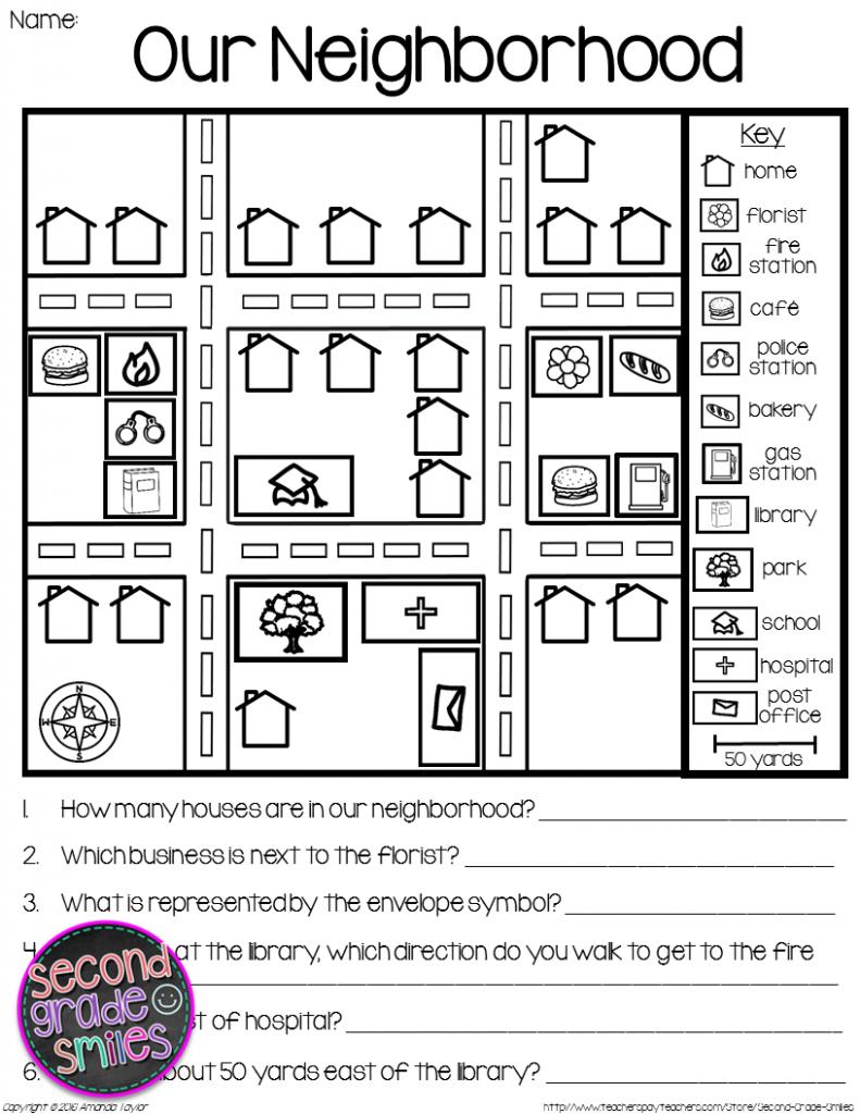 Map Skills - Reading Maps Printables & Map Making Task | Social with Community Map For Kids Printable