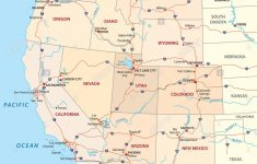 Western United States Map Printable