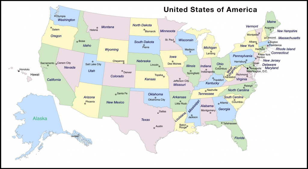 Map With State And Capitals And Travel Information   Download Free regarding Printable Us Map With States And Capitals