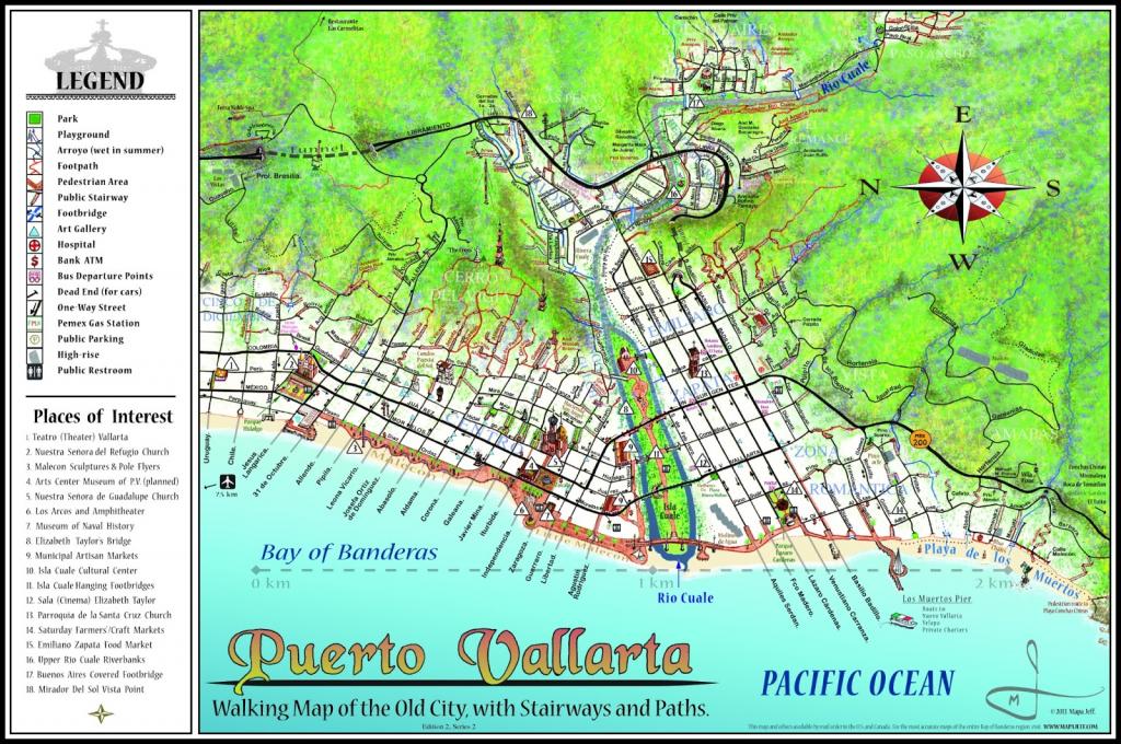 Mapa Jeff Cartography: Puerto Vallarta Maps with Puerto Vallarta Maps Printable