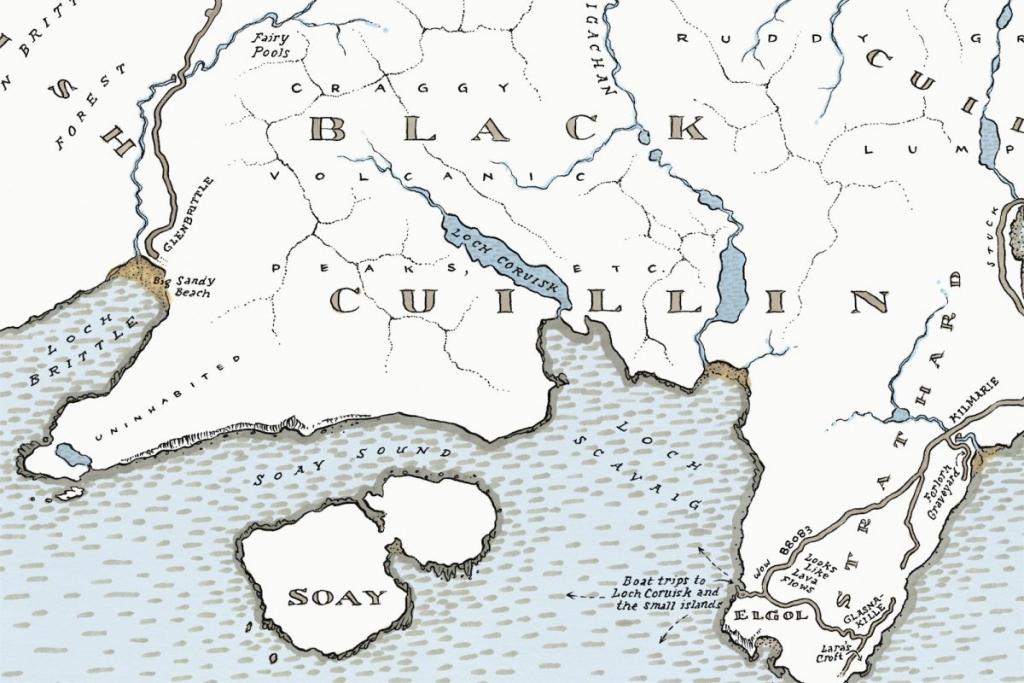 Mapping Portree And Skye | J. Maizlish Mole :: Atlas Arts within Printable Map Skye