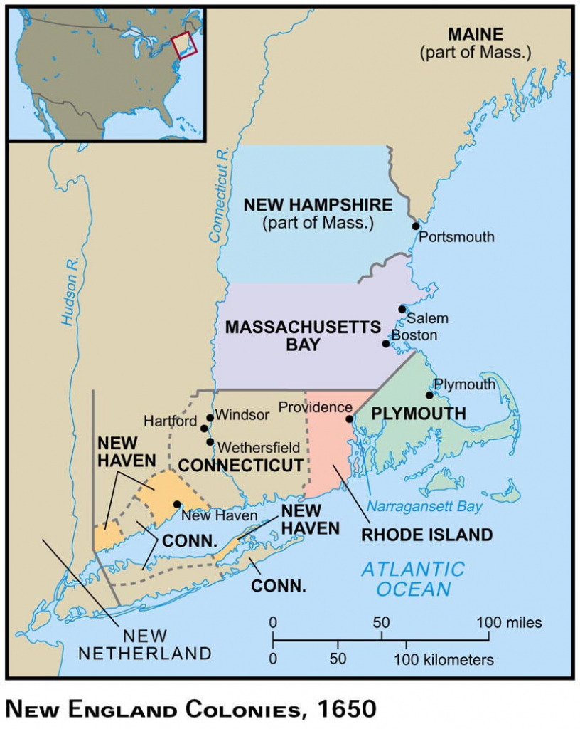 Maps, Charts & Graphs throughout New England Colonies Map Printable