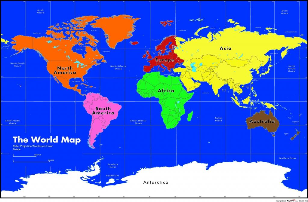 Maps Com Montessori World Wall Map Asia 1 - World Wide Maps in Montessori World Map Printable
