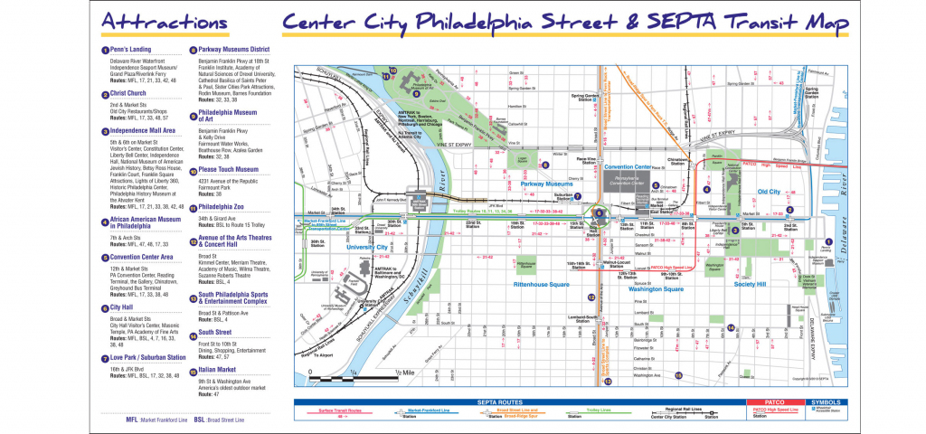 Maps & Directions intended for Philadelphia City Map Printable