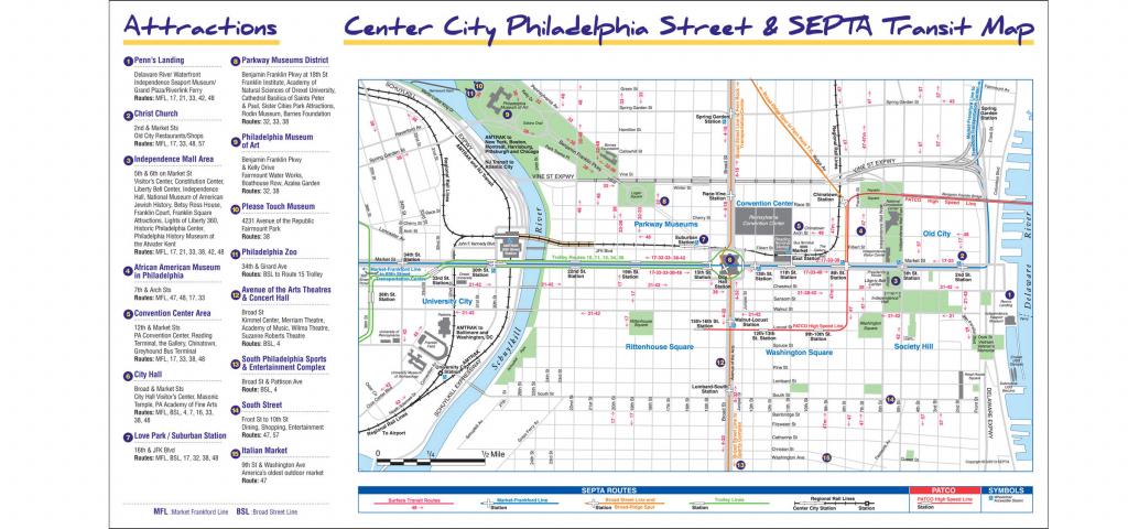 Maps & Directions - Philadelphia Street Map Printable | Printable Maps in Philadelphia Street Map Printable
