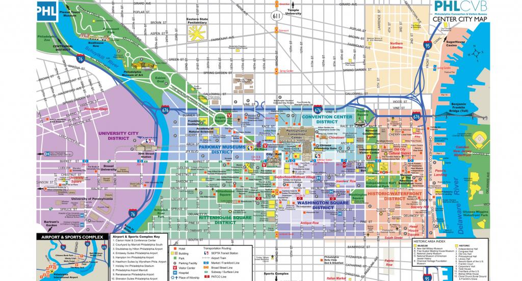 Maps & Directions regarding Philadelphia City Map Printable