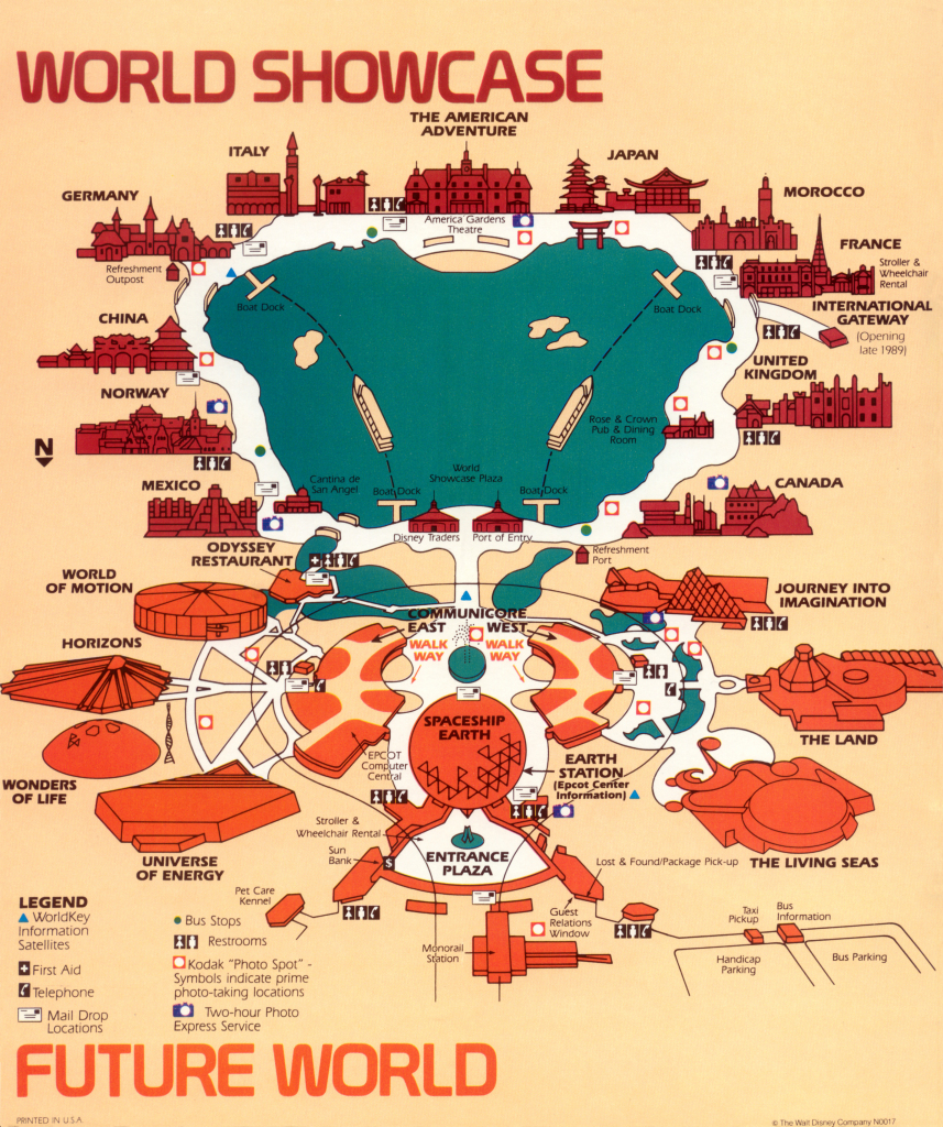 Maps! Epcot Center, 1989 « Progress City, U.s.a. pertaining to Printable Map Of Epcot 2015