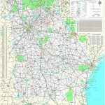 Maps   Georgia Department Of Transportation Highway Map 1999 2000 (3 Throughout Georgia Road Map Printable