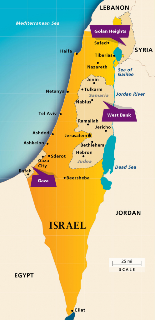 Maps: Israel Today | Aipac inside Printable Map Of Israel Today