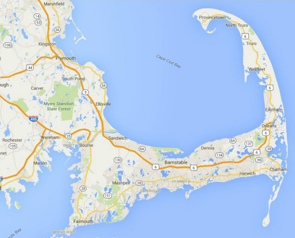 Maps Of Cape Cod, Martha's Vineyard, And Nantucket throughout Printable Map Of Cape Cod
