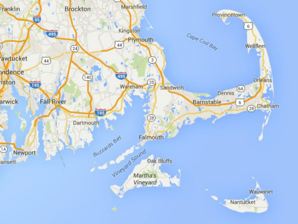 Maps Of Cape Cod, Martha's Vineyard, And Nantucket with regard to Printable Map Of Cape Cod Ma