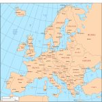 Maps Of Europe In Printable Map Of Europe With Capitals