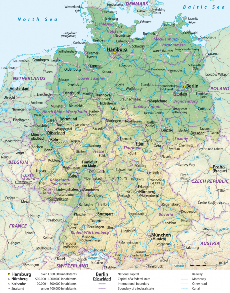Maps Of Germany | Detailed Map Of Germany In English | Tourist Map inside Printable Map Of Germany With Cities And Towns