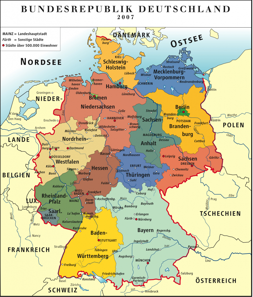 Maps Of Germany | Detailed Map Of Germany In English | Tourist Map regarding Printable Map Of Germany With Cities And Towns