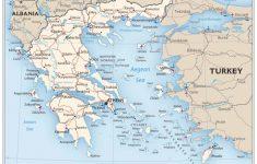 Printable Map Of Greece