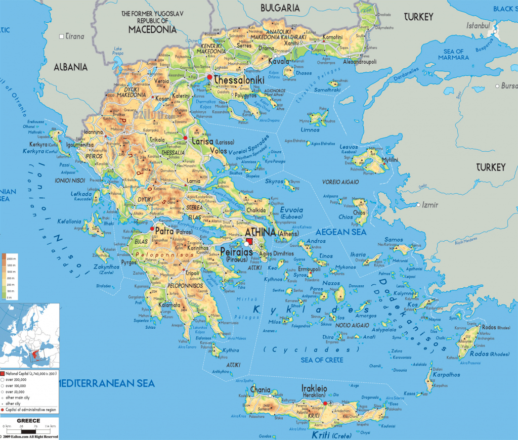Maps Of Greece | Greece Detailed Map In English | Tourist Map (Map throughout Printable Map Of Greece