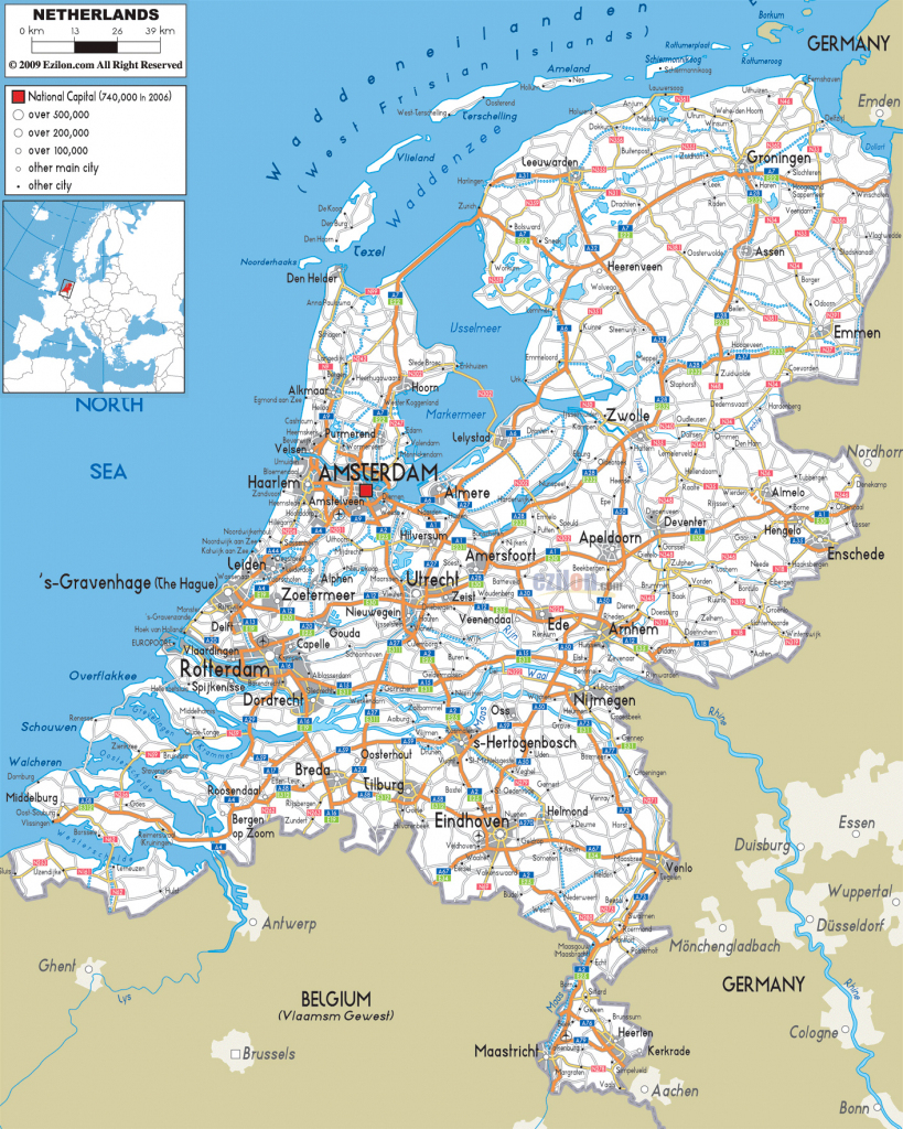 Maps Of Holland | Detailed Map Of Holland In English | Tourist Map intended for Printable Map Of The Netherlands
