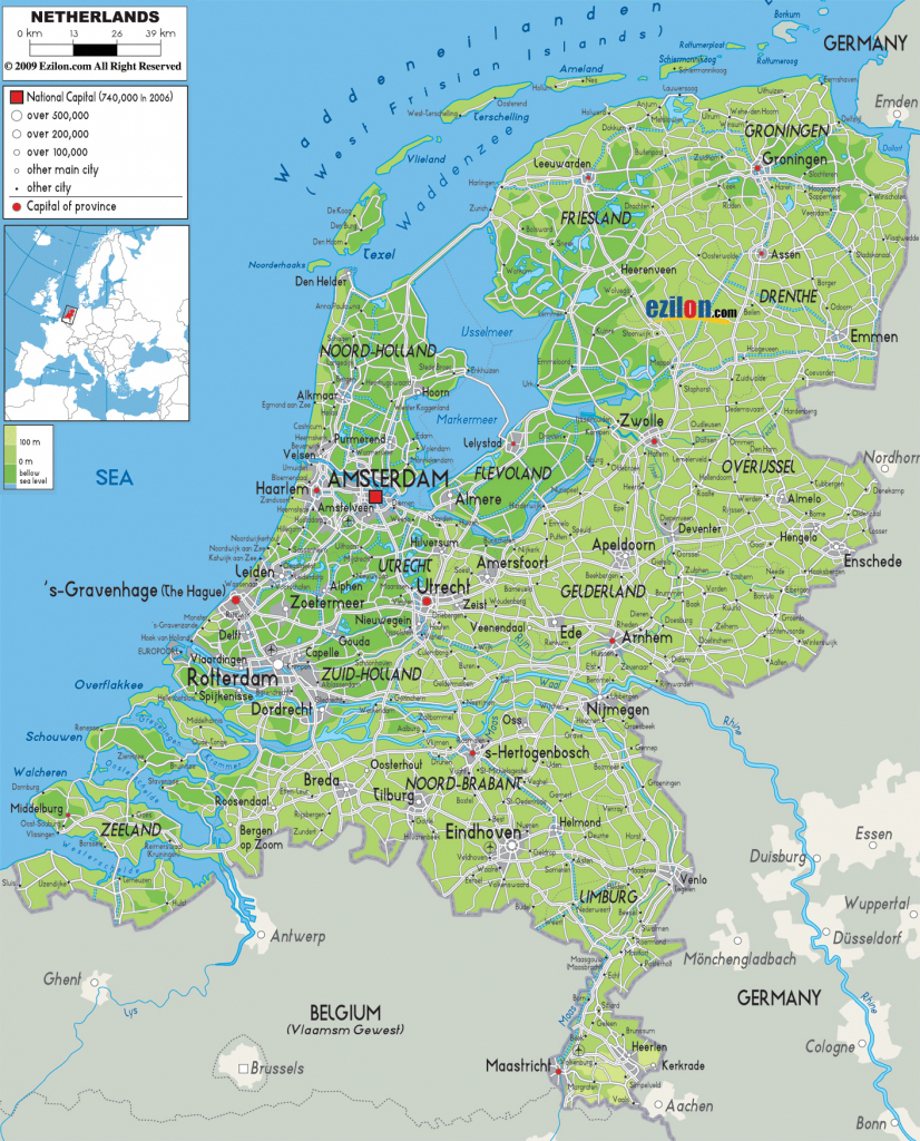 Maps Of Holland | Detailed Map Of Holland In English | Tourist Map with Printable Map Of The Netherlands