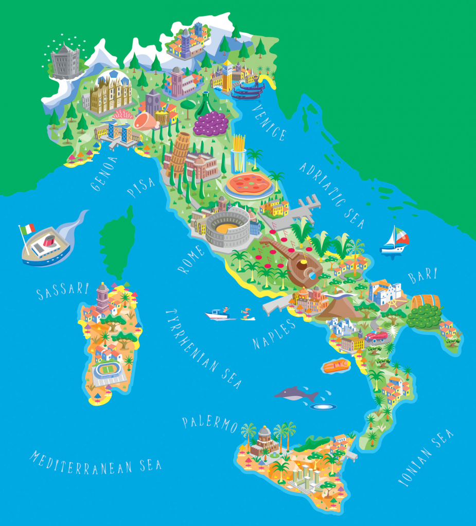Maps Of Italy | Detailed Map Of Italy In English | Tourist Map Of inside Free Printable Map Of Italy