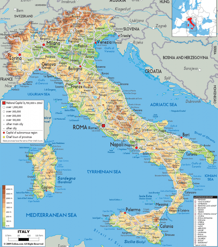 Maps Of Italy | Detailed Map Of Italy In English | Tourist Map Of with Printable Map Of Italy With Cities And Towns