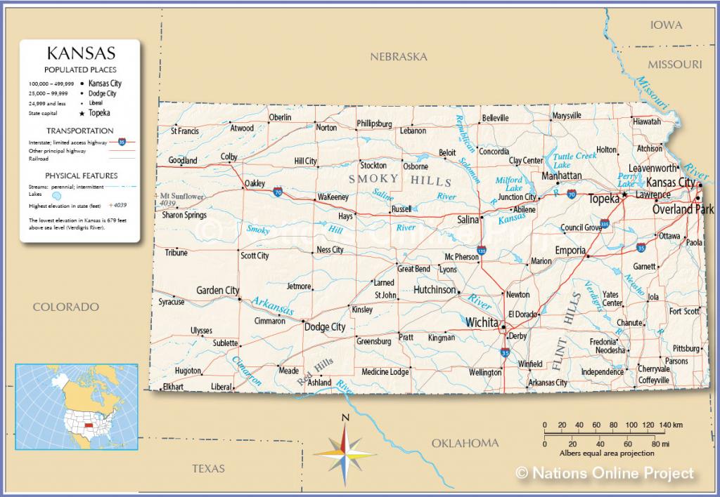 Maps Of Kansas And Travel Information | Download Free Maps Of Kansas pertaining to Printable Map Of Kansas