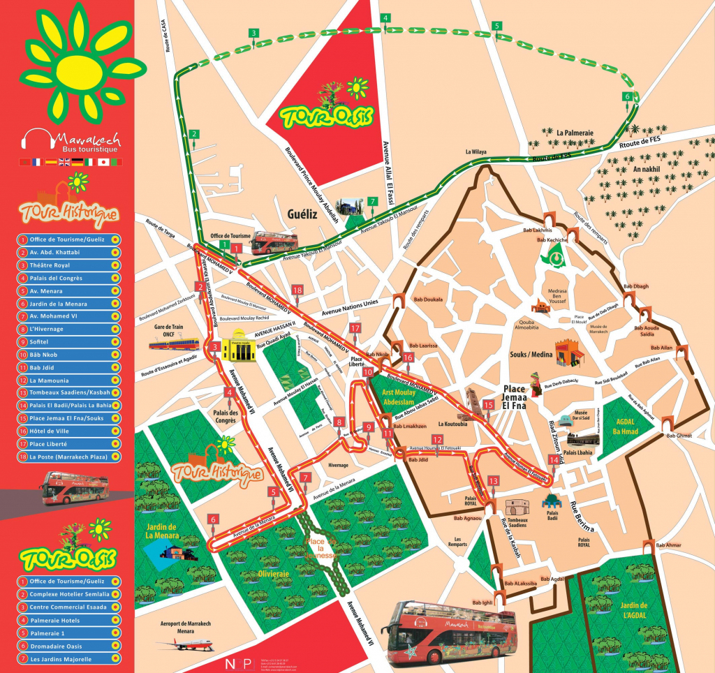 Maps Of Marrakech | To Download Or Print - Bus Map, Souks, Train, City intended for Marrakech Tourist Map Printable