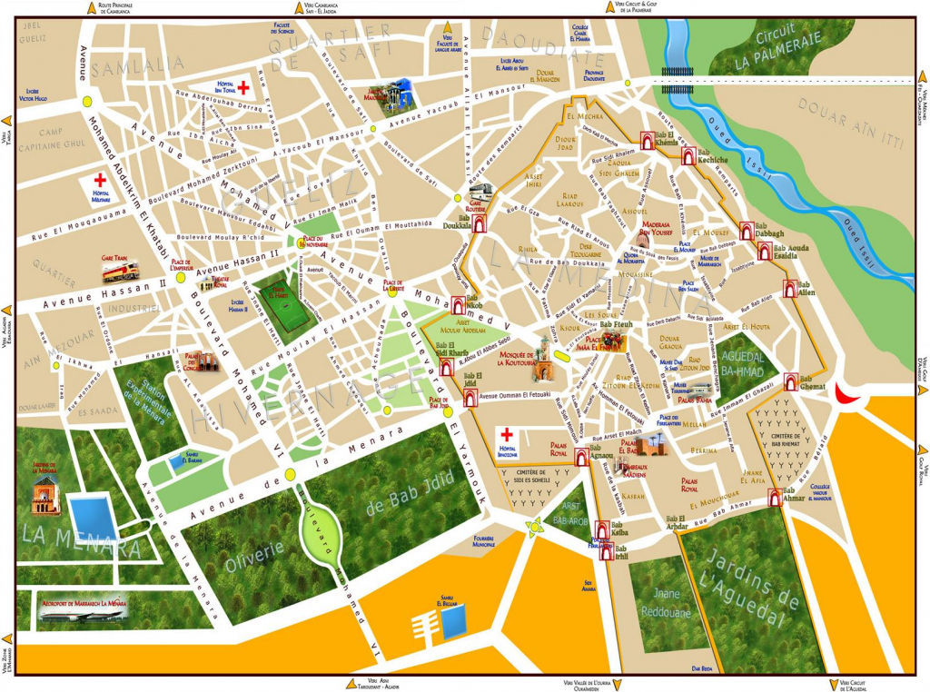 Maps Of Marrakech | To Download Or Print - Bus Map, Souks, Train, City pertaining to Marrakech Tourist Map Printable