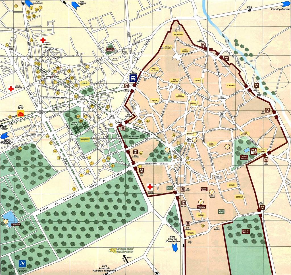 Maps Of Marrakech | To Download Or Print - Bus Map, Souks, Train, City regarding Marrakech Tourist Map Printable