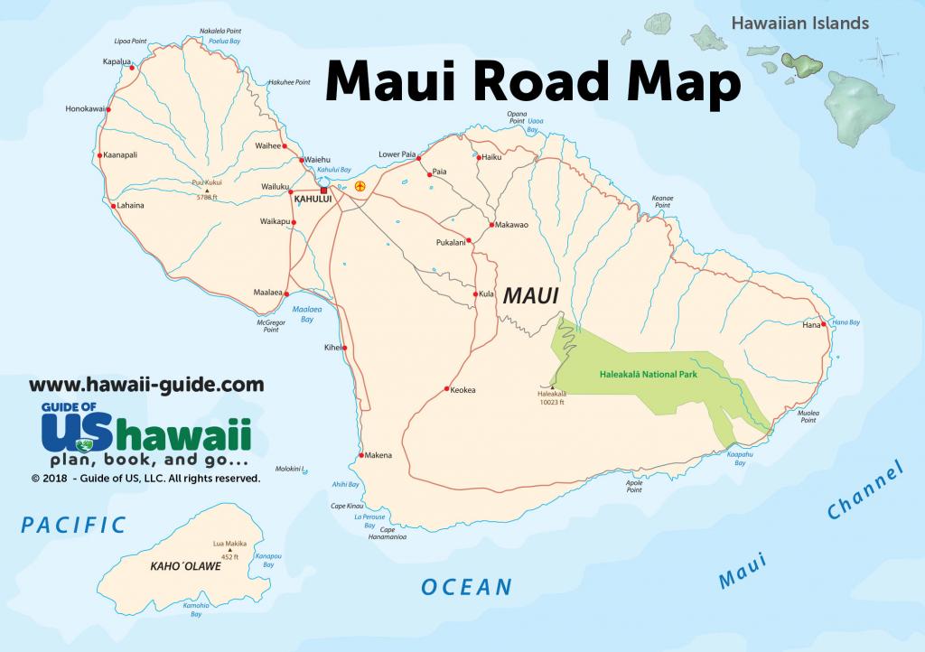 Maps Of Maui Hawaii with Maui Road Map Printable
