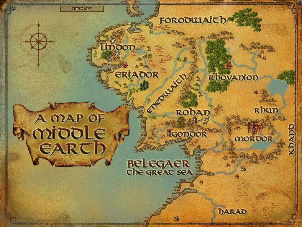 Maps Of Middle Earth | Middle Earth Printable Map | Paper Projects for Printable Hobbit Map