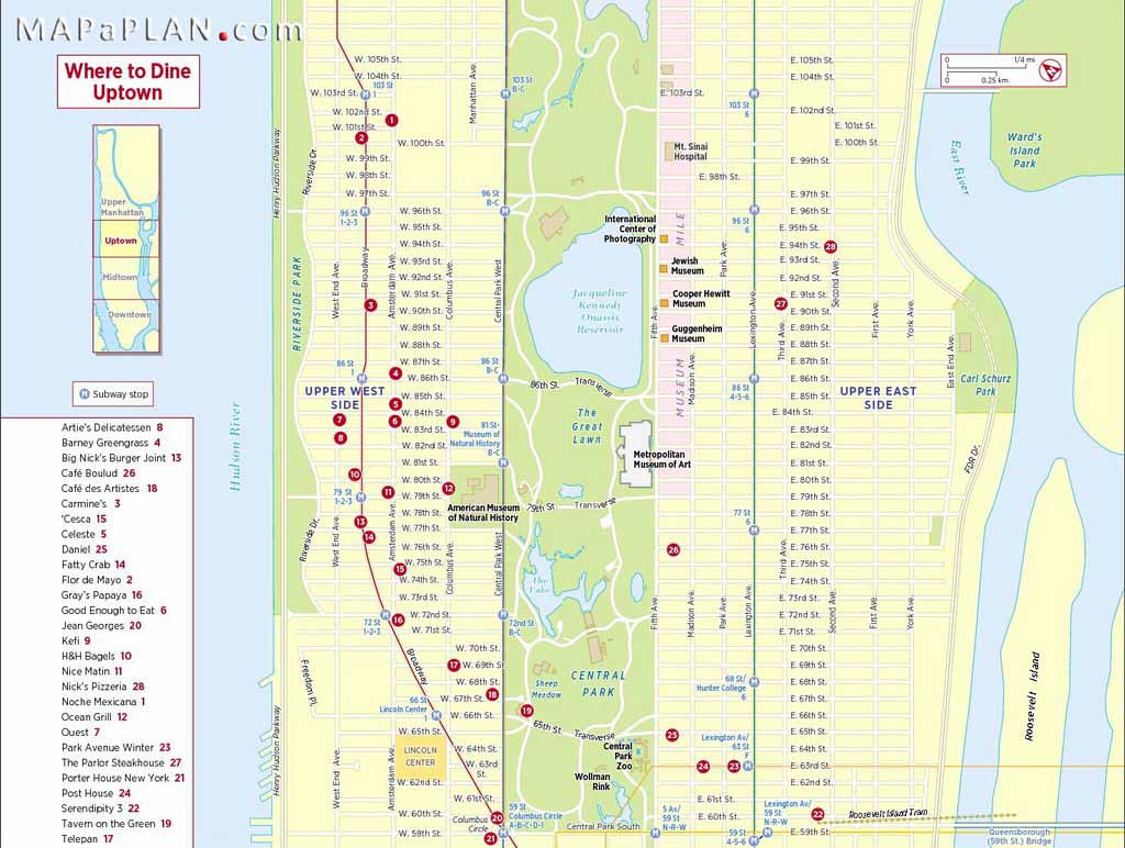 Maps Of New York Top Tourist Attractions - Free, Printable in Free Printable Map Of Manhattan