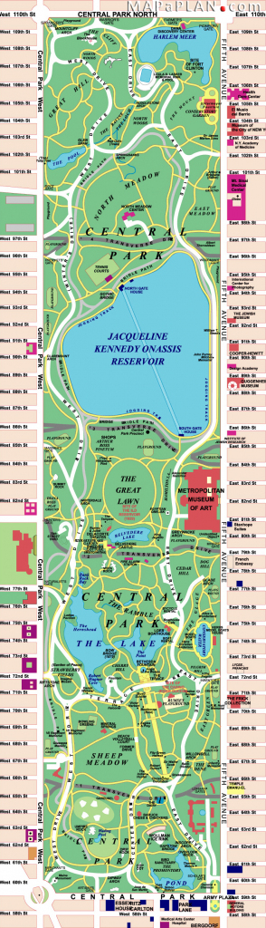 Maps Of New York Top Tourist Attractions - Free, Printable in Printable Map Of Central Park New York