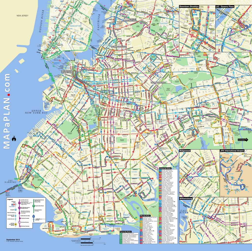 Maps Of New York Top Tourist Attractions - Free, Printable inside Brooklyn Street Map Printable